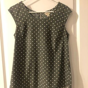Gray and white polka dot Merona top from Target